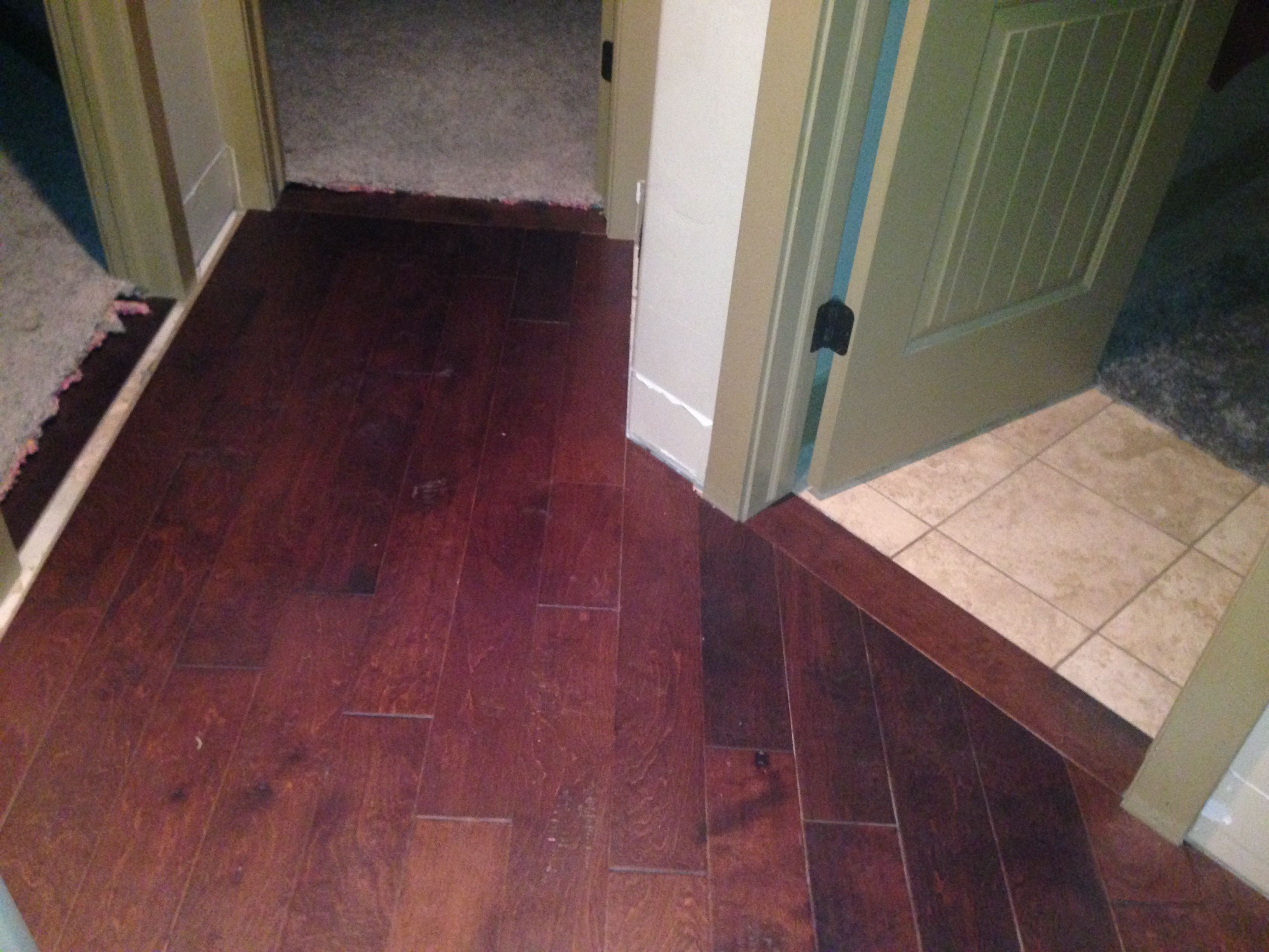 Threshold Detail Of Wide Plank Maple Floor Home Improvement Ideas