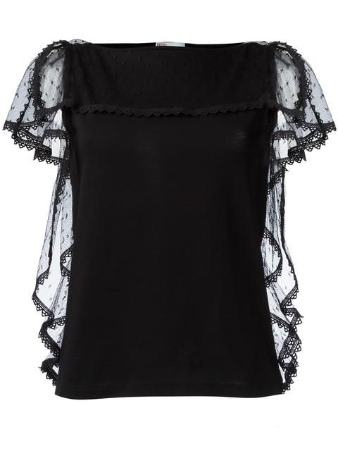 RED VALENTINO lace frill top. #redvalentino #cloth #탑