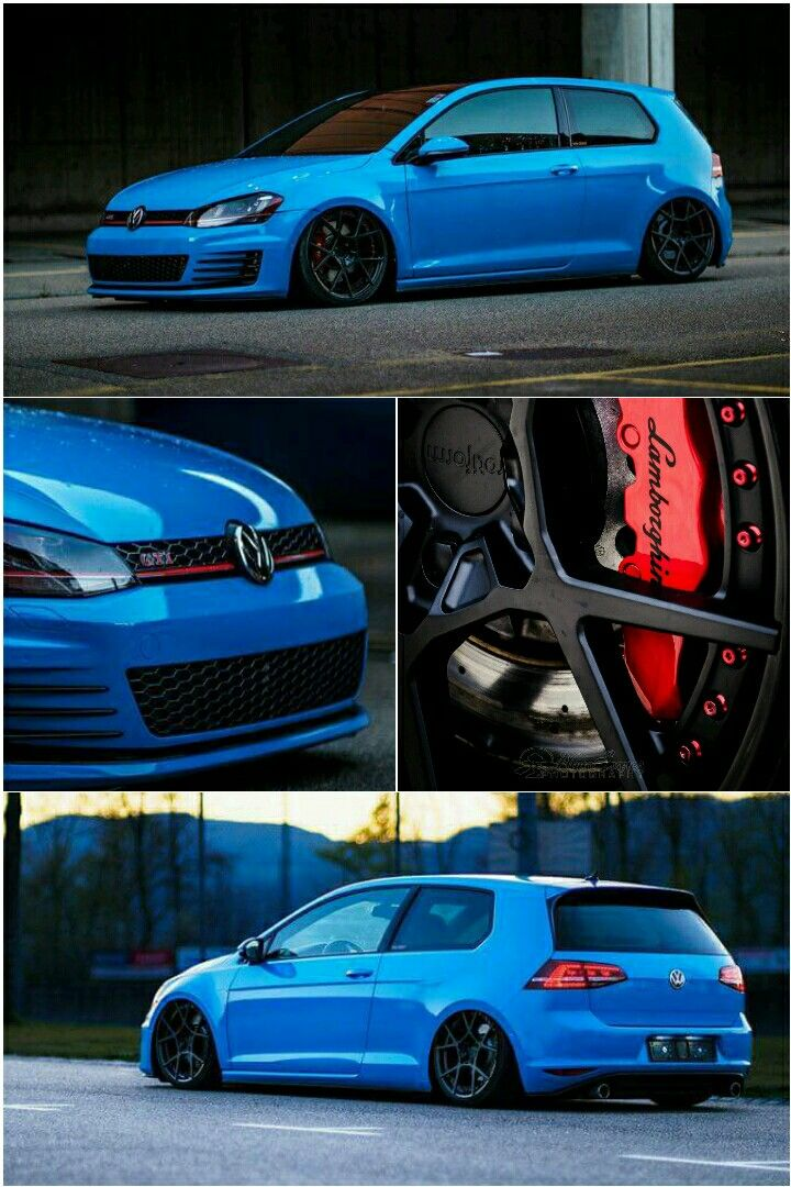 Volkswagen Golf Mk7 Gti With 6 Piston Calipers And Rotiform Wheels