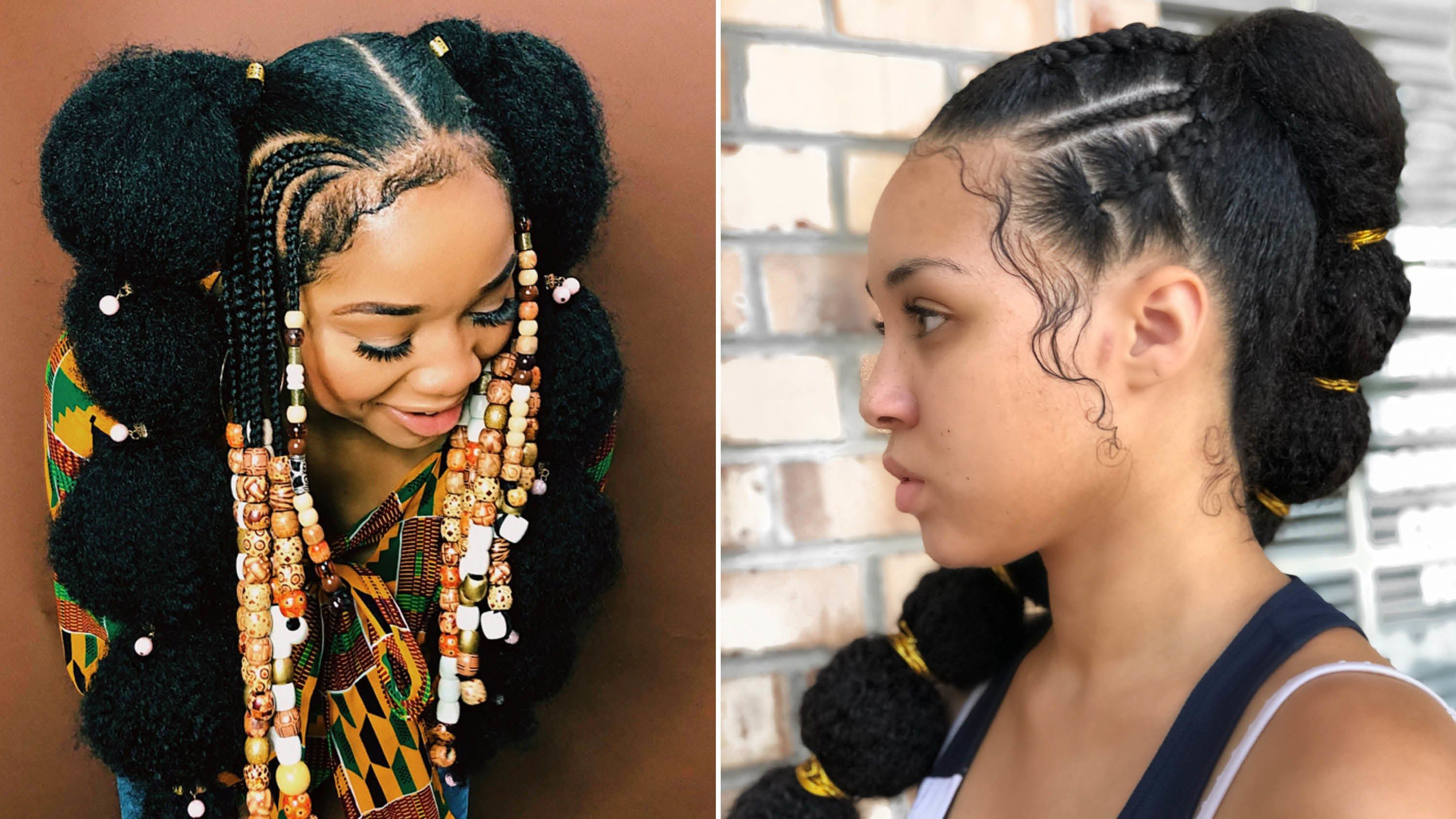 Afro Puff Bubble Ponytails Are Trending on Instagram | Hair puff, Bubble ponytail, Mixed hair