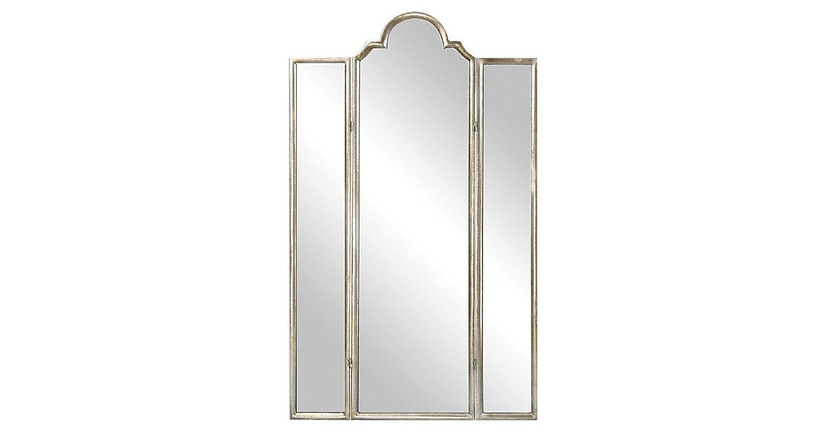 With its hinged panels and simple silhouette, this stately floor mirror feels…