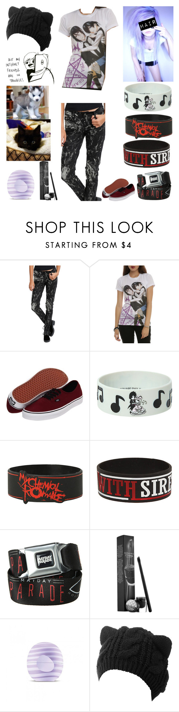 """""""Style #306"""" by katlanacross ❤ liked on Polyvore featuring Tripp, Vans, Sephora Collection and Eos"""