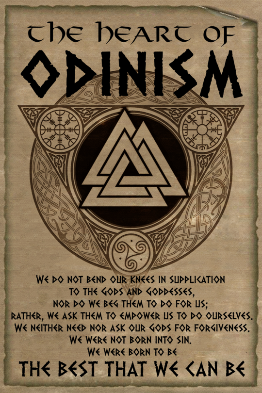 (cv89) viking Poster – the heart of odinism