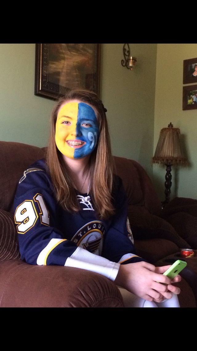 St Louis Blues Painted Face Blue Face Paint Face St Louis Blues