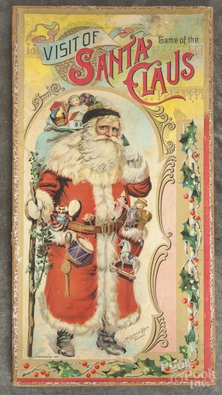 game of visit of santa claus copyright 19 x 10 provenance the estate of katherine k - Books About Santa Claus 2