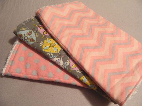 Handmade coordinating burpcloths $14