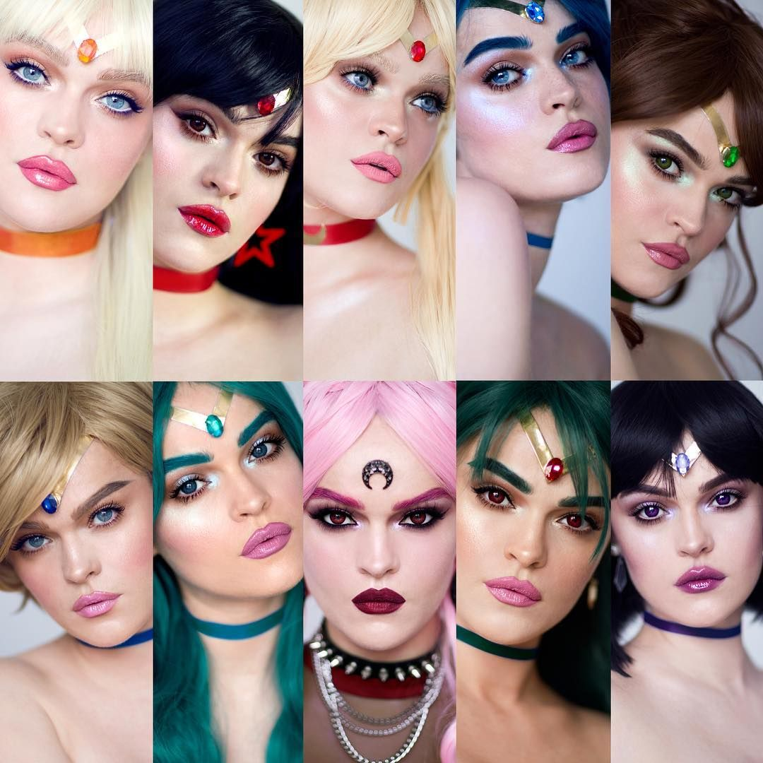 Makeup Artist Transforms Herself Into Every Sailor Moon Scout Http Geekxgirls Com Article Php Id 8 Sailor Moon Costume Sailor Moon Makeup Sailor Moon Cosplay