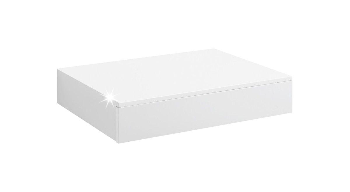 Casseto Wandregal Mit Schublade 450x250x80 Mm Weiß Hochglanz