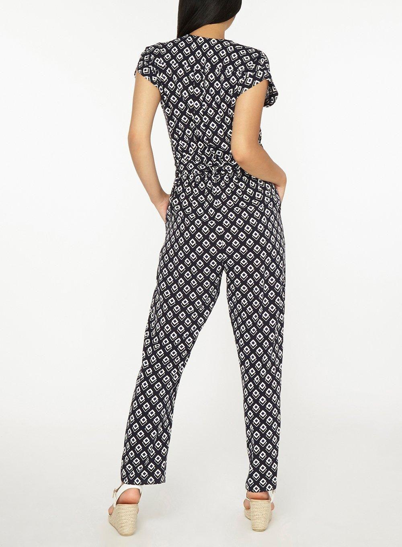 a66dc290bd0f Petite Multi Coloured Geometric Print Jumpsuit - Petite Clothing - Clothing  - Dorothy Perkins
