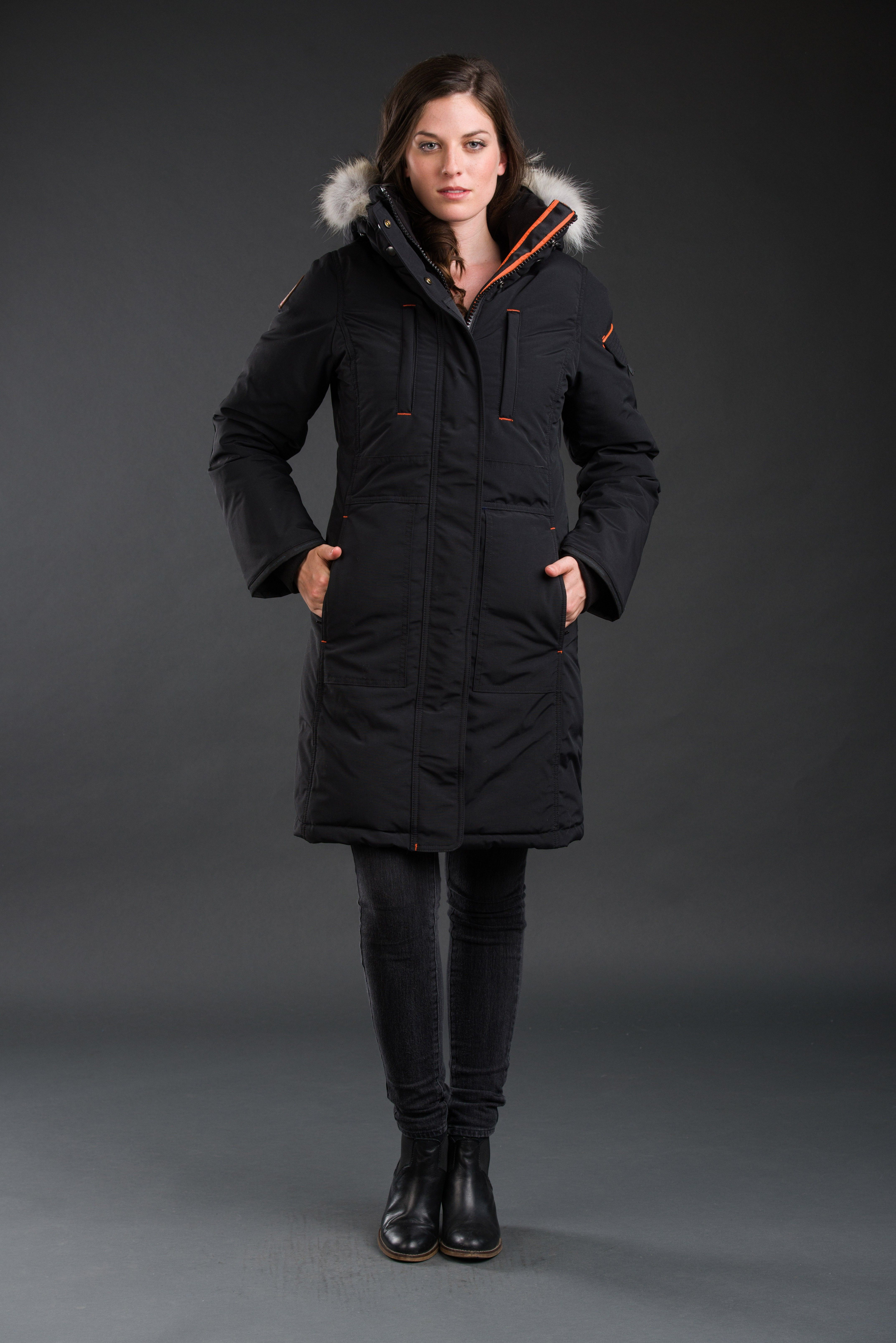 OSC LADIES NISTO PARKA - OS1081S-ORCA BLACK | Coats and jackets ...