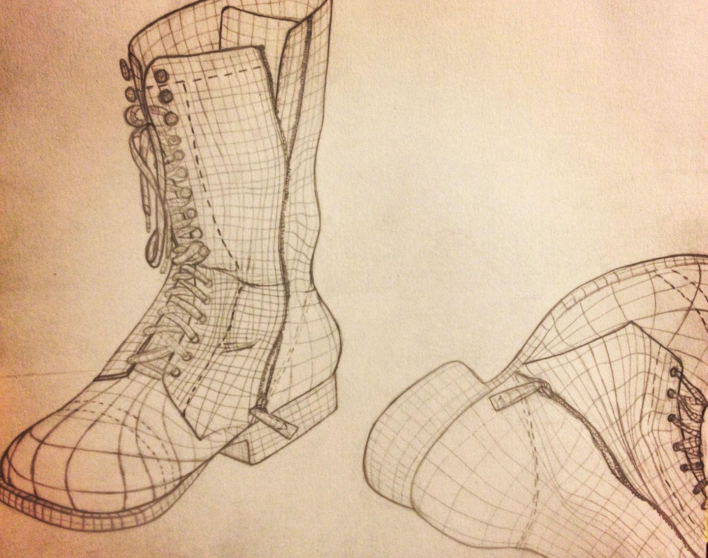 Cross Contour Of My Boots