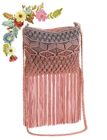 Monsoon Ombre Macrame Crossbody Bag