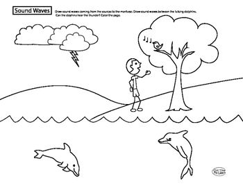 This worksheet helps children visualize how sound travels through ...