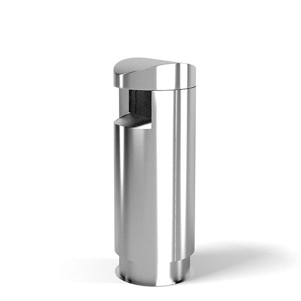 Chrome Round Top Trash Can