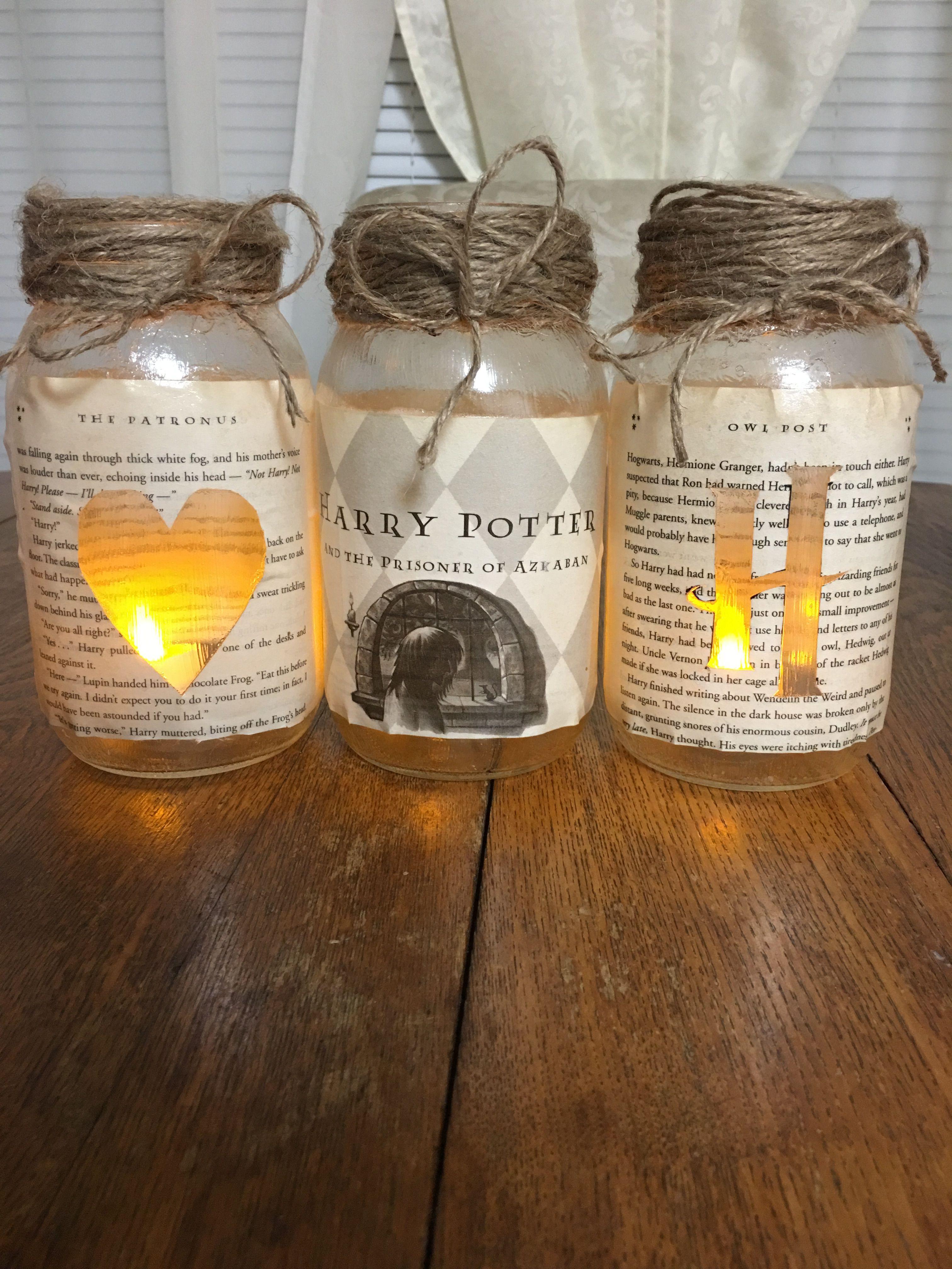 Harry Potter Mason Jars Harry Potter Gifts Diy Harry Potter Diy Harry Potter Baby