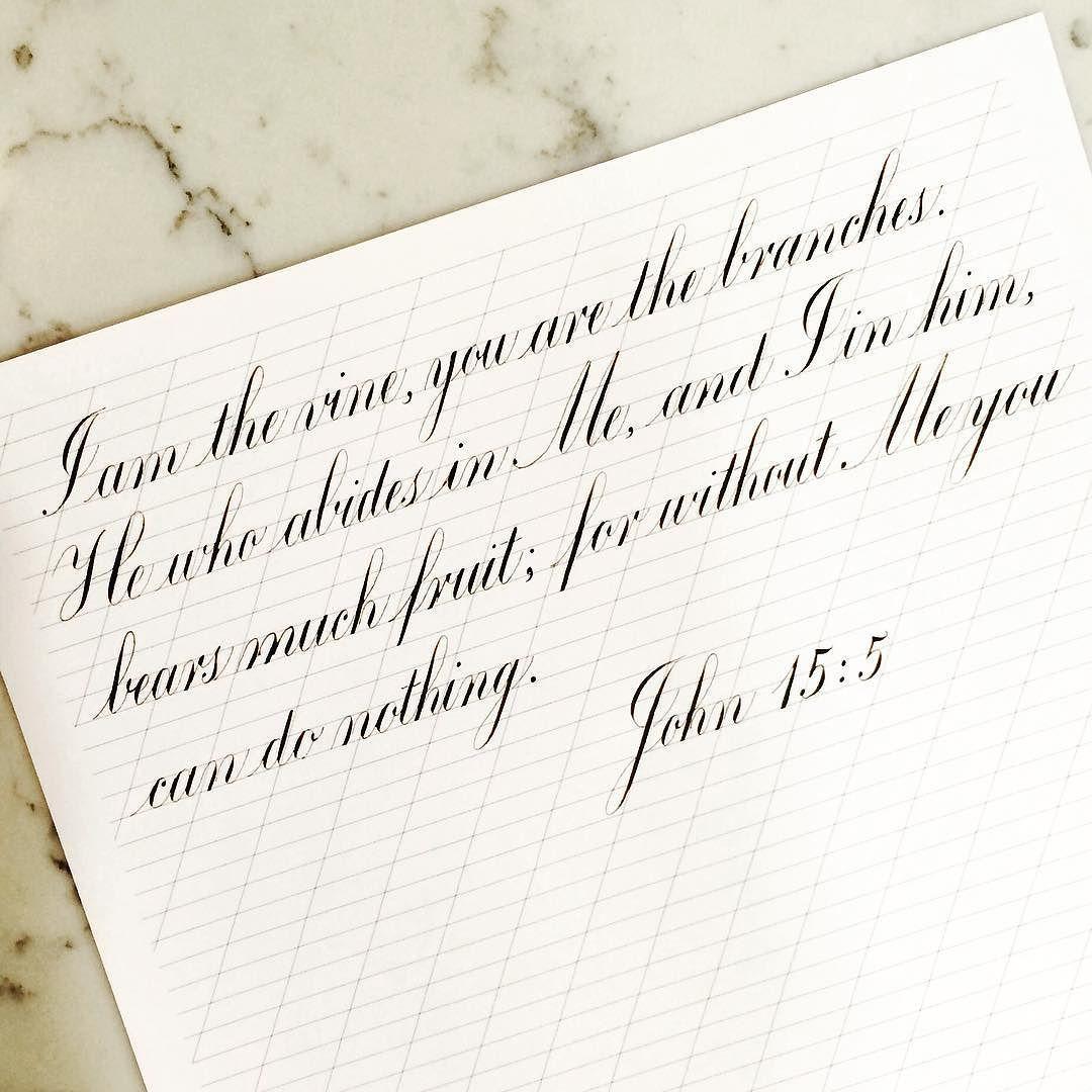 "04.13.16 day 12 of #ScriptingScriptureDaily John 15:5 ""for ..."