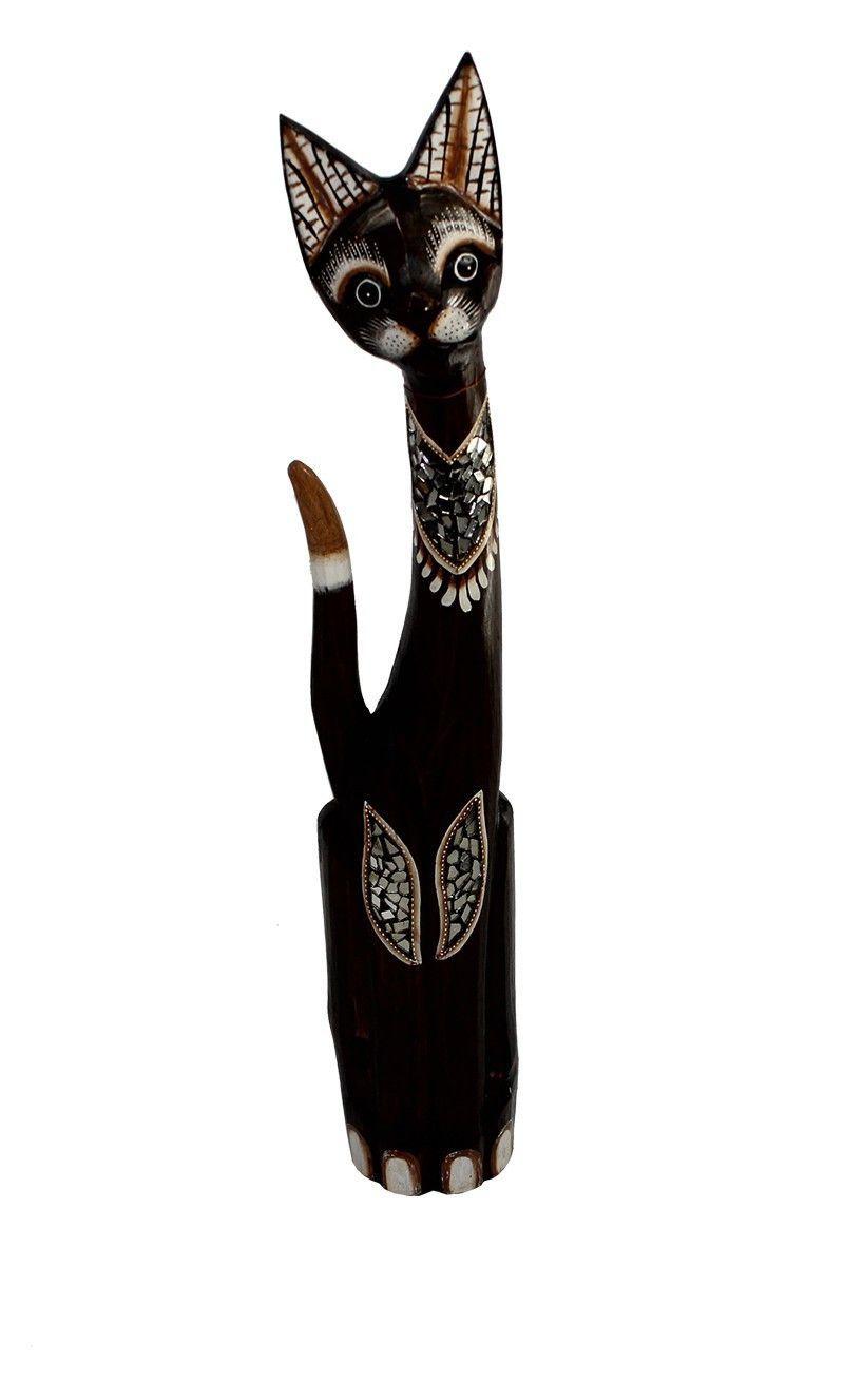 Wooden Cat Statue