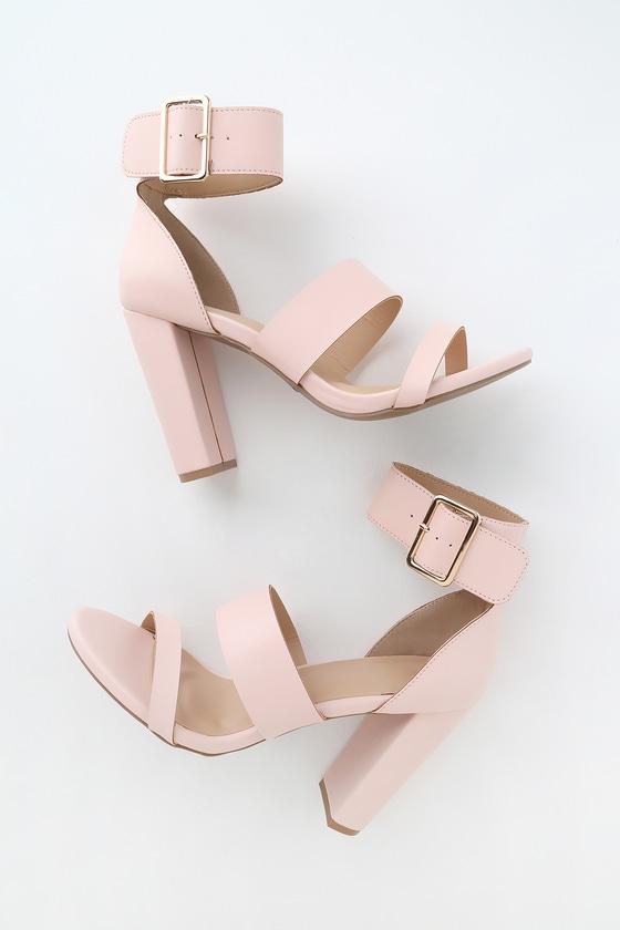 Margaret Light Blush Ankle-Strap Heels