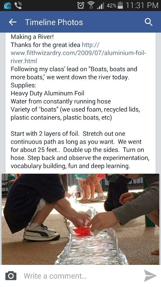 Love this idea, boats, water, play, discover