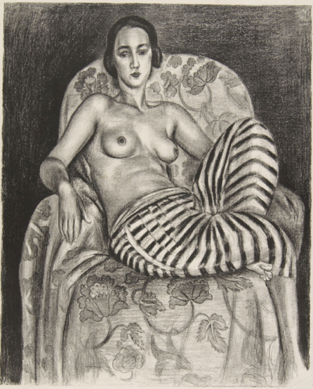 By Henri Matisse (1869-1954), 1925, Large Odalisque in striped pantaloons.
