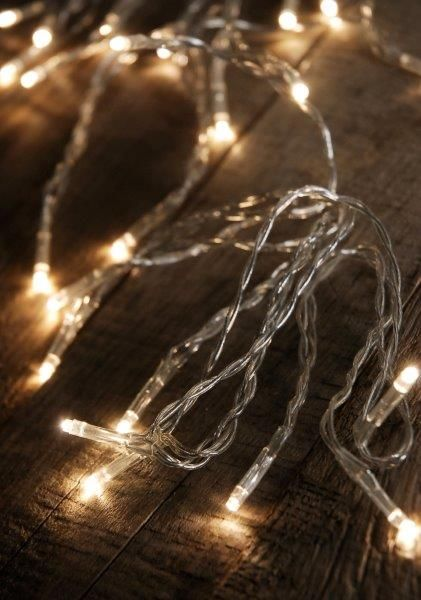 Warm White LED Light Strand Micro Lights 135\u0027 Battery Operated