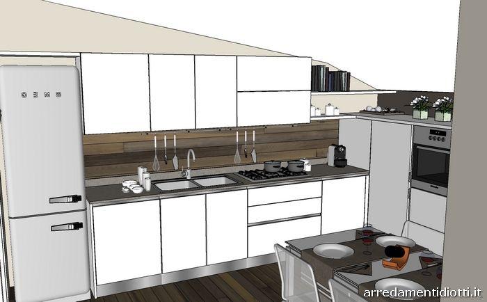 Cucine per mansarde foto affordable come arredare una mansarda sfruttare al meglio lo spazio - Cucine per mansarde basse ...