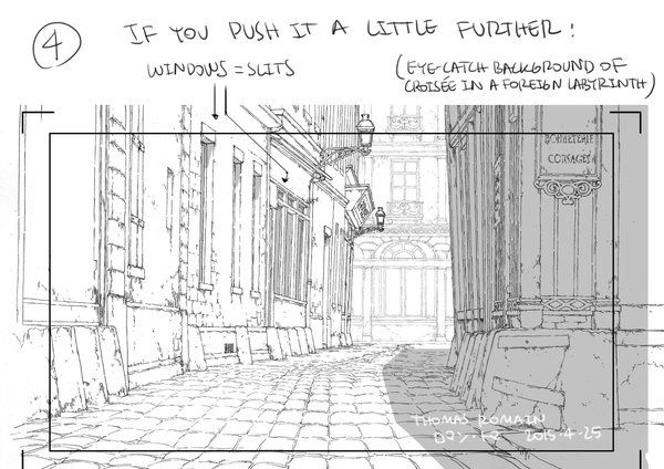 Thomas Romain Is A Terrific Artist Working In The Anime Industry In Tokyo Previously He Show Background Drawing Sketch Background Perspective Drawing Lessons