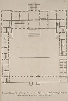Map Of The Interior Of The British Museum Montague House Regency