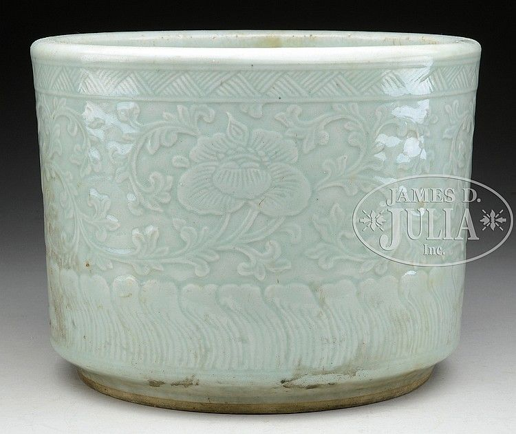 Celadon Glazed Porcelain Planter Porcelain Planter Celadon Porcelain