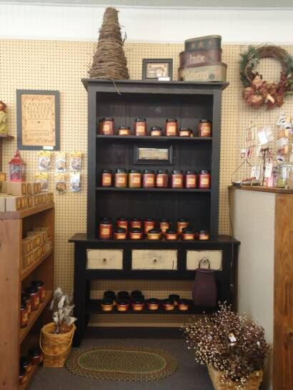 Chillicothe Craft Mall Candle Display Retail Candle Store Display Candle Displays