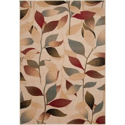 Tea Leaves Polypropylene Area Rug