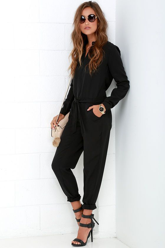 48+ Black jumpsuit with sleeves ideas info