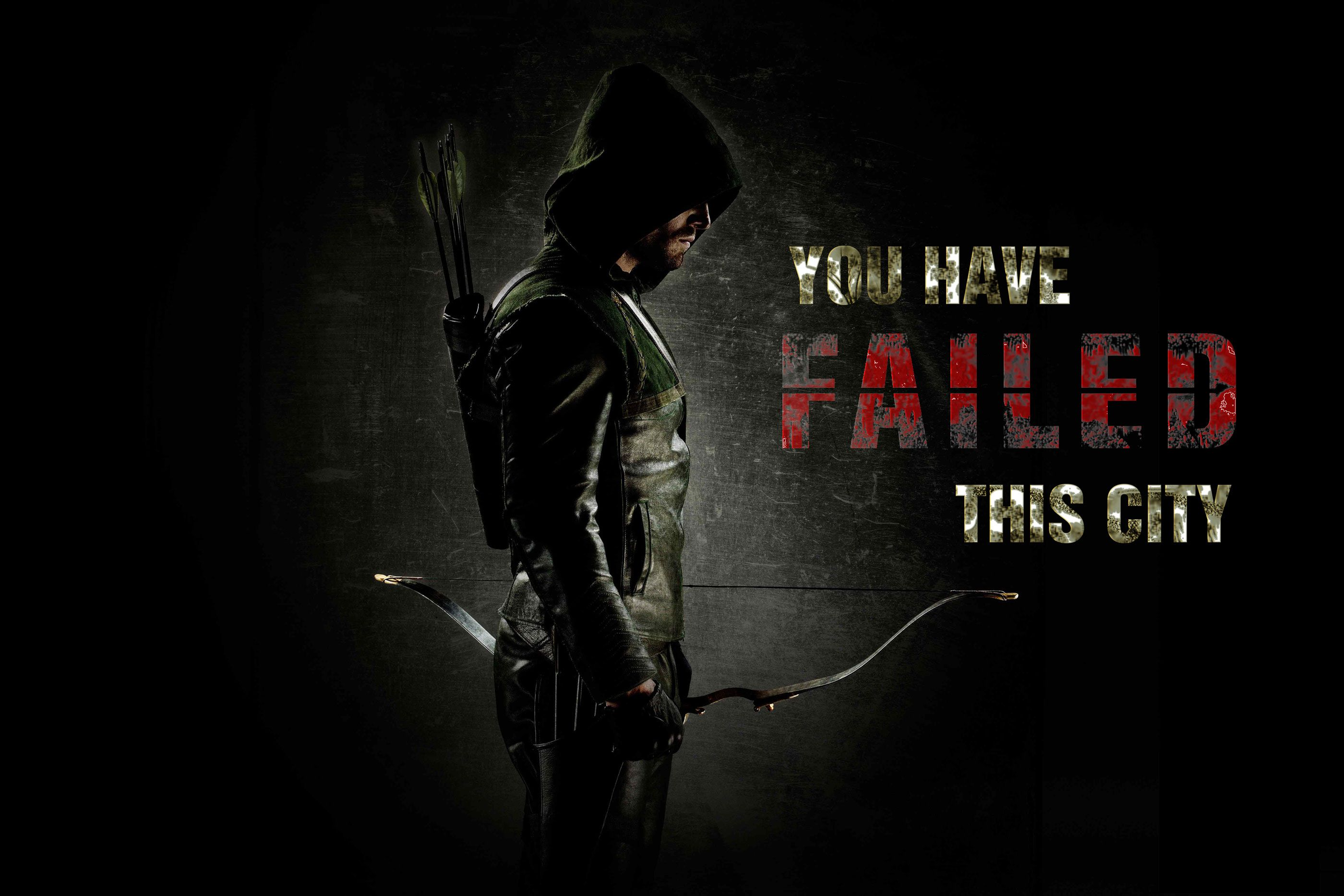 DC Comics Arrow TV Series You Have Failed This City Photo Refrigerator Magnet