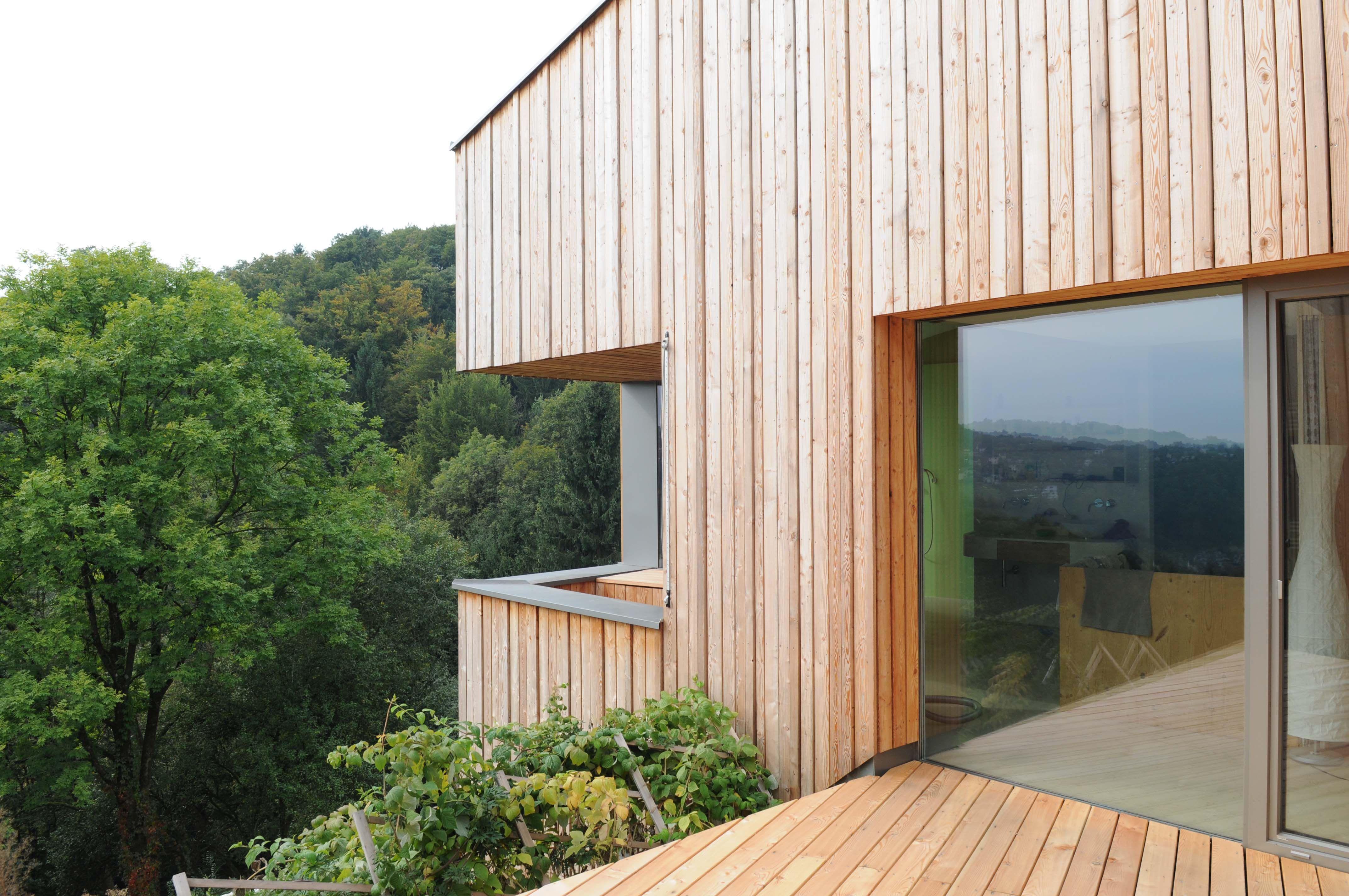 Holzfassade - Hüllen aus Holz - m-haus Blog | Fassade | Pinterest ...