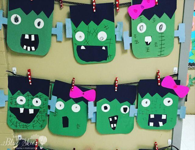 Frankenstein Halloween Craft Freebie (First Grade Blue Skies ...