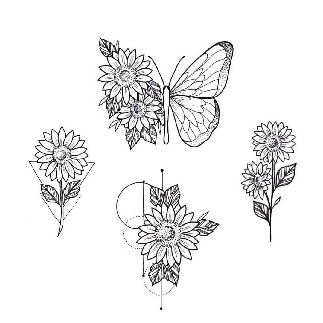 "Amanda Fonseca no Instagram: ""🌻 #ilustration #art #flowertattoo #sunflowertattoo #sunflower #tattoo"""