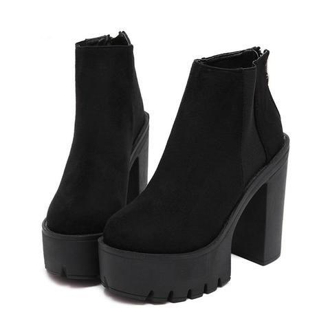 44c6b0e211ce Gothic Classic Ankle Platform Boots