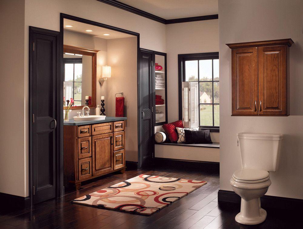 Cherry Bathroom In Burnished Chocolate Kitchen Cabinet Design