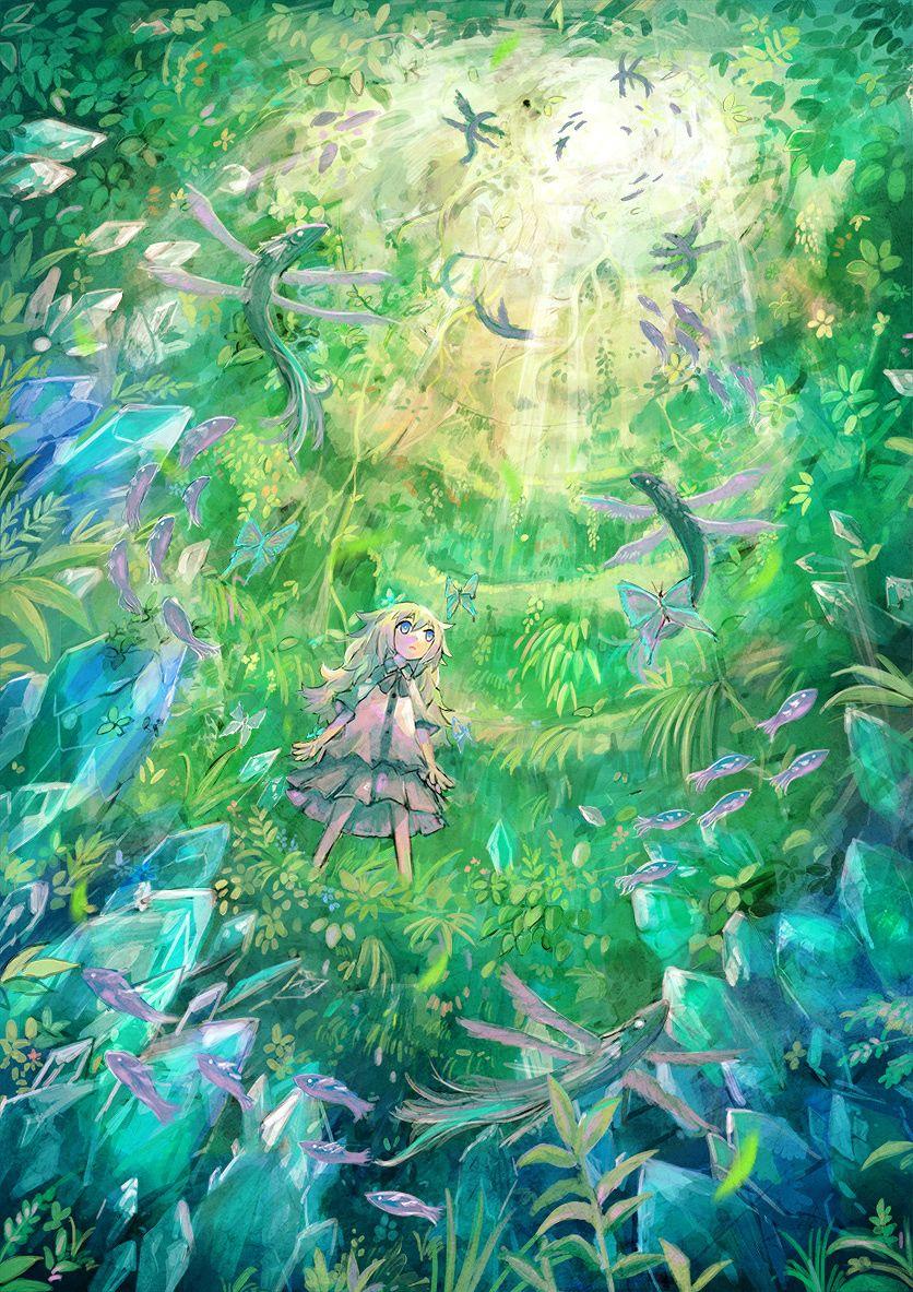 green aquarium | Anime scenery, Art, Iphone wallpaper sky