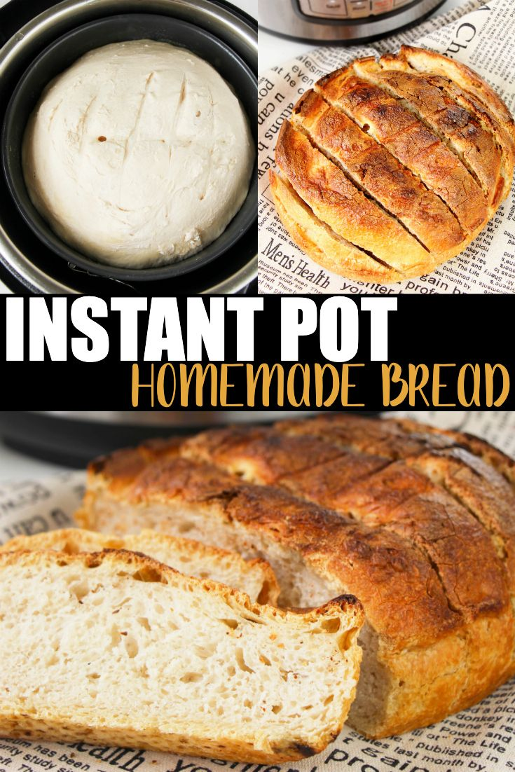Want fresh bread with dinner? Try my Instant Pot Homemade Bread. Add Italian seasoning on top before cooking, garlic glaze before toasting or plain, it is simply delicious! #InstantPot #Recipe #BreadRecipe #InstantPotRecipe #InstantPotRecipes via @instantpotchef