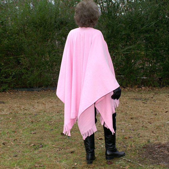 Celebrate Life Pink Anti Pill Fleece Wrap, Blanket Scarf or Shawl with Fringe--One Size Fits Most