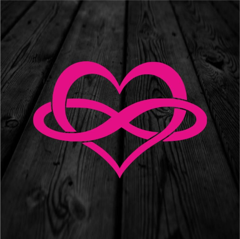 Infinity Heart Decal Love Forever Decal Solid Symbols Decal