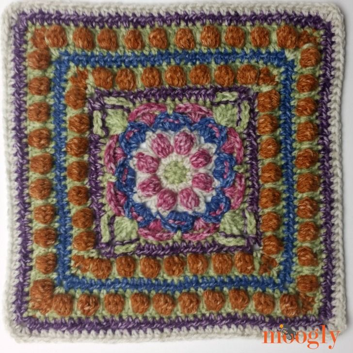 Block #18 in the Moogly Afghan CAL! ... #crochet #pattern #crafts ...