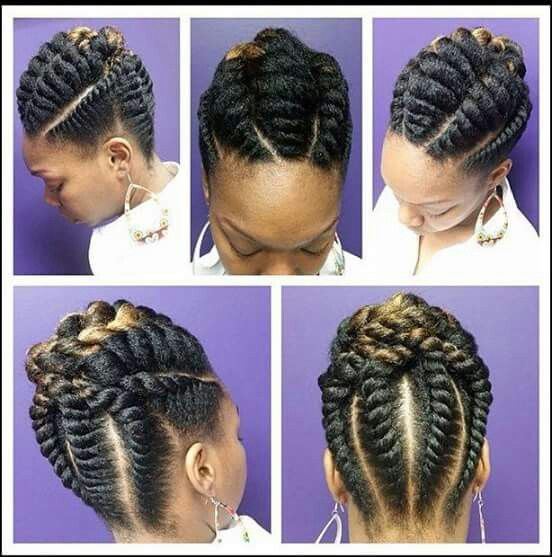 Flat Twist Updo Natural Hair Rocks Pinterest Flat Twist Updo
