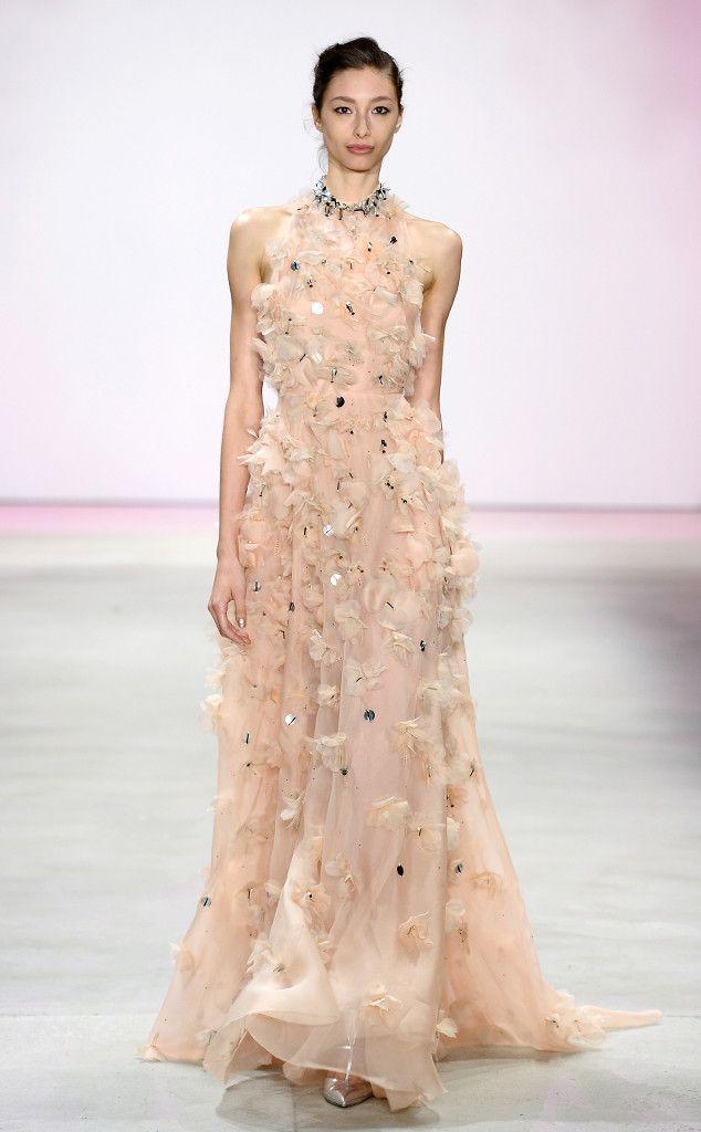 Lela Rose Spring 2016 from 2016 Golden Globes Dress Predictions  Floral appliqué is ever so sweet.