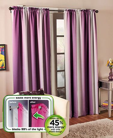 This Alva Thermal Shield Window Panel can help regulate the temperature in your home throughout the seasons while blocking light and noise. Made of a heavyweight lined fabric, this energy-efficient window curtain features