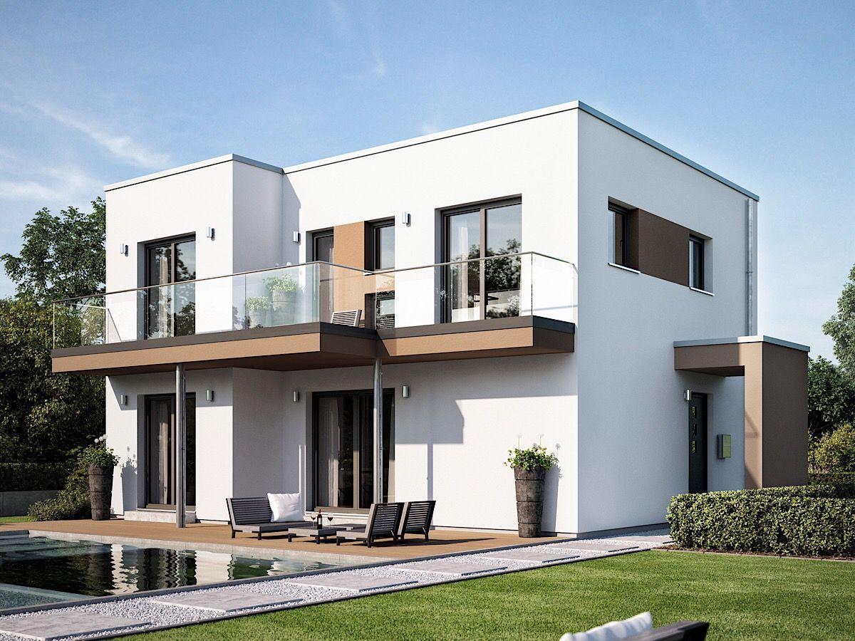 Modernes Haus Design mit Flachdach Architektur im