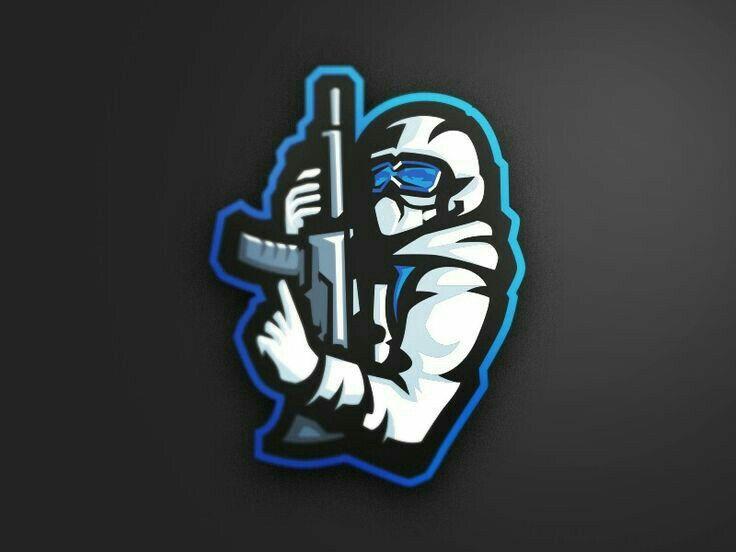 Intelijen Id Logo Keren Seni Tengkorak Gambar Serigala