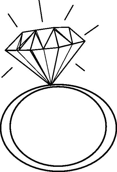 Diamond Engagement Ring Clipart 5