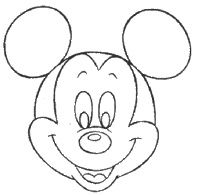 Apprendre a dessiner mickey draw pinterest gabarit dessin and gateau minnie - Dessiner mickey ...